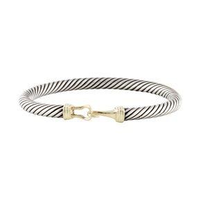 David Yurman gold and silver hook bracelet